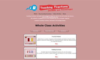 Teaching Fractions -  Decimals and Percentages